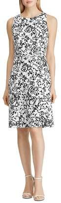 Ralph Lauren Floral-Print Belted Sheath Dress