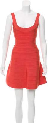 Herve Leger Eva Bandage Dress Orange Eva Bandage Dress