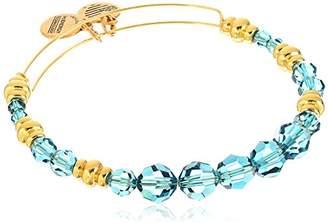 Alex and Ani Swarovski Beaded Sky Expandable Wire Gold Bangle Bracelet