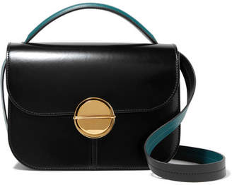 Marni Tuk Medium Glossed-leather Shoulder Bag - Black