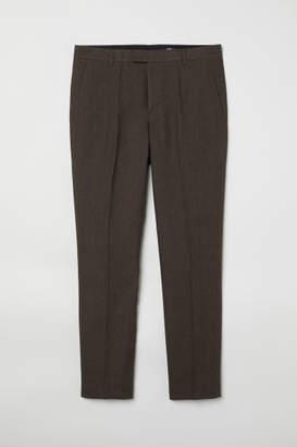 H&M Slim Fit Linen Suit Pants - Green