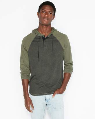 Express Perforated Camo Raglan Hoodie
