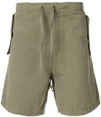 YMC back pocket embellished shorts