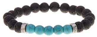 Public Opinion Lava Stone Mixed Bead Stretch Bracelet