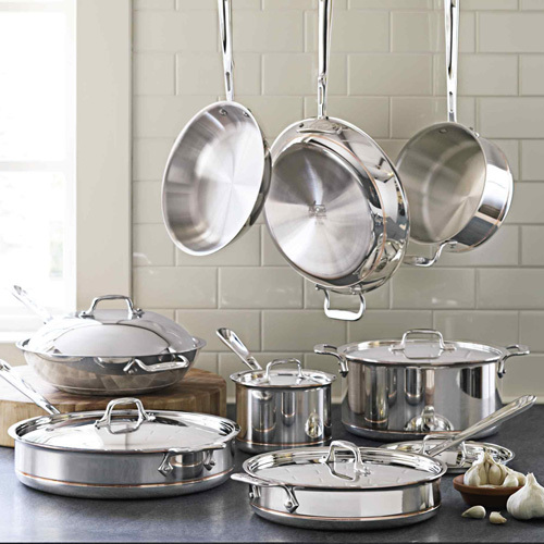 All-Clad Copper-Core 14-Piece Cookware Set