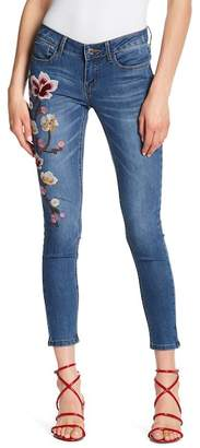 Soundgirl Floral Embroidery Skinny Jeans