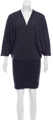 Emilio Pucci Gathered Wool Dress