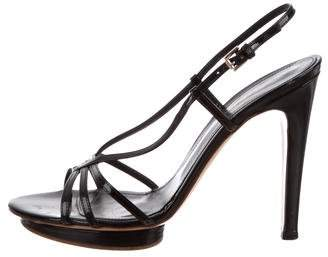 Gianvito Rossi Patent Leather Slingback Sandals