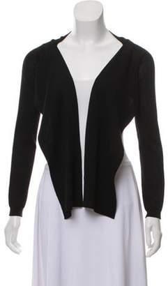 Valentino Wool Long Sleeve Shrug Black Wool Long Sleeve Shrug