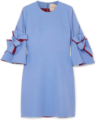 Roksanda Harlin Bow-embellished Crepe Mini Dress - Azure