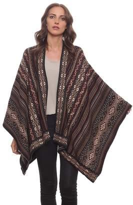 Invisible World Women's Poncho Alpaca Wool 100% Ruana Cape Winter Fall Huari