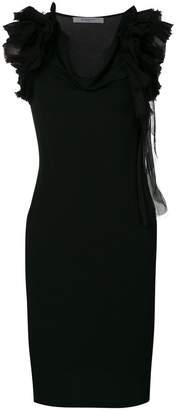 Givenchy ruffle strap shift dress