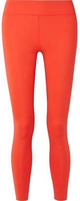 Calvin Klein Printed Two-tone Stretch Leggings - Bright orange