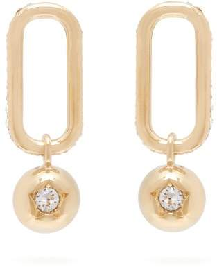 Burberry Chain Link And Sphere Drop Earrings - Womens - Gold