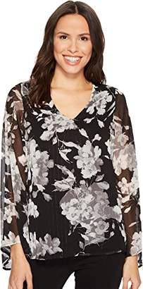 Karen Kane Women's V-Neck Flare Sleeve Top