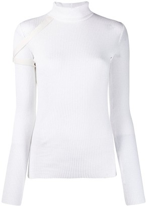 Helmut Lang turtleneck ribbed top
