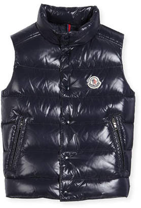 Moncler Vented-Hem Quilted Puffer Vest, Size 8-14