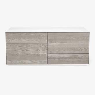 Gallerist Brushed Oak Dresser White