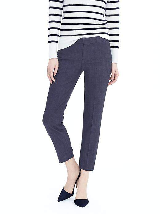 Avery-Fit Navy Lightweight Wool Pant