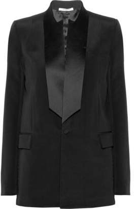 Givenchy Satin-Trimmed Silk-Cady Tuxedo Jacket