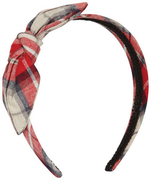Delia's Plaid Bow Headband