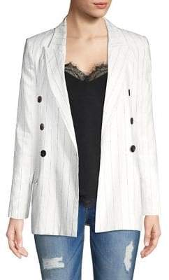L'Agence Brea Pinstripe Linen Blazer