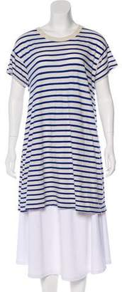 The Great Striped Short Sleeve Top