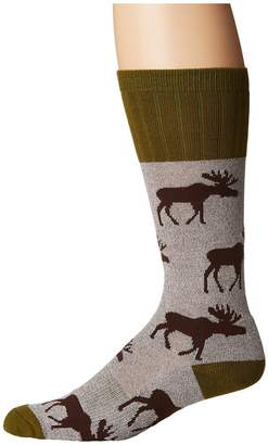 Socksmith Moose Men's Crew Cut Socks Shoes