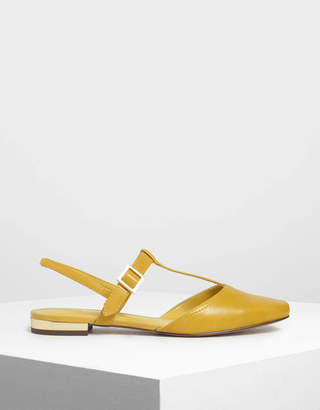 Charles & Keith T-Bar Front Covered Sandals
