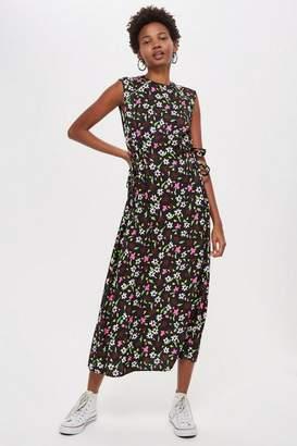 Topshop **Ditsy Print Midi Dress by Boutique