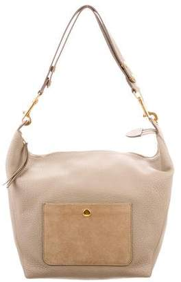 Celine Grained Calfskin Medium Zipped Hobo