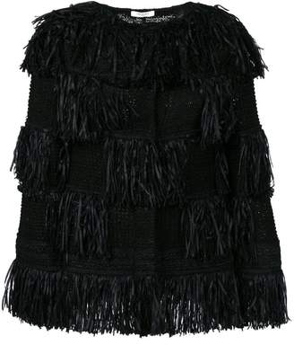 Charlott fringed oversized jacket