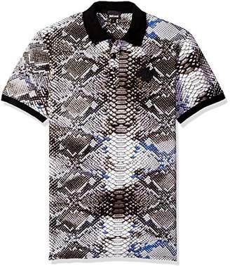 Just Cavalli Men's Snake Tie Die Polo Shirt