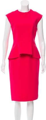 Christian Dior Peplum Sheath Dress