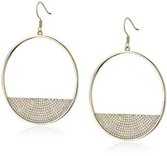 Lisa Freede Jewelry -Plated Micro Pave Eclipse Drop Earrings