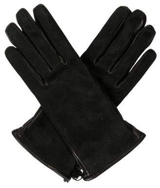 Lanvin Suede-Trim Leather Gloves w/ Tags