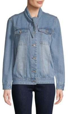 Classic Button-Front Denim Jacket