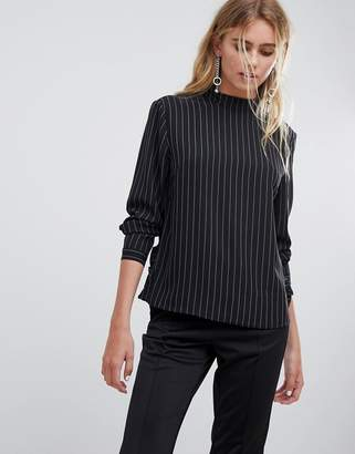 Pieces Fira stripe long sleeved top