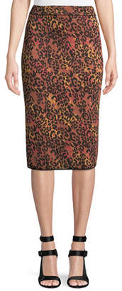M Missoni Metallic Animal-Print Pencil Skirt