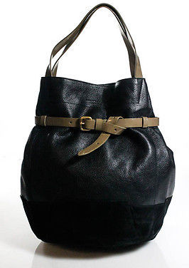 Marc By Marc Jacobs Marc By Marc Jacobs Black Brown Leather Gold Tone Belted Hobo Handbag New $319