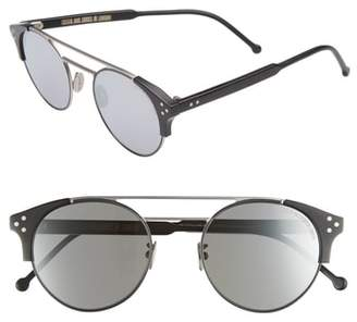 CUTLER AND GROSS 50mm Polarized Round Sunglasses