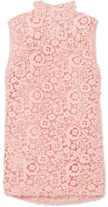 Miu Miu Lace And Silk-organza Top - Pink