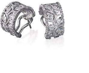 Buccellati Ramage Diamond Hoop Earrings