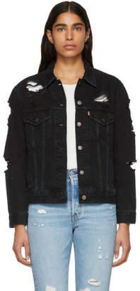 Levi's Levis Black Ex-Boyfriend Trucker Jacket