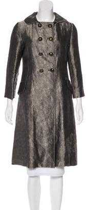 Bottega Veneta Metallic Double-Breasted Coat