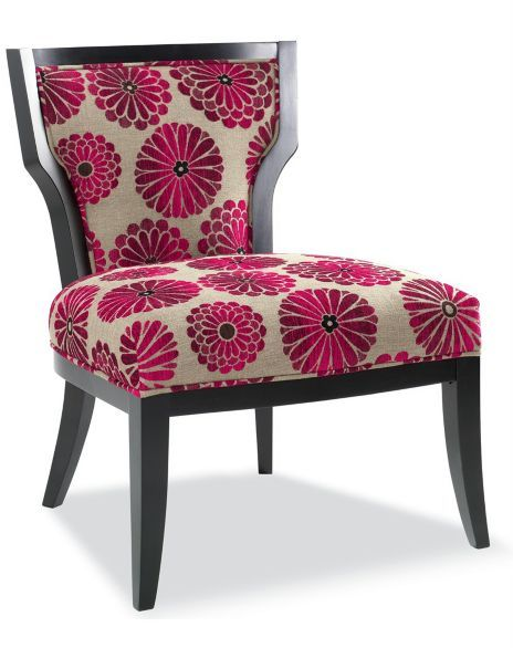 CLOSEOUT! Morning Magenta Accent Chair