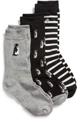 Kate Spade Penguin 3-Pack Crew Sock Gift Set