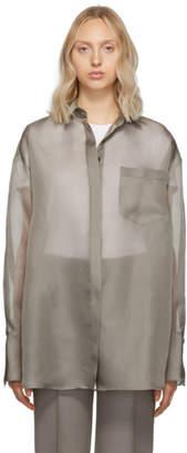The Row Grey Silk Organza Claire Shirt