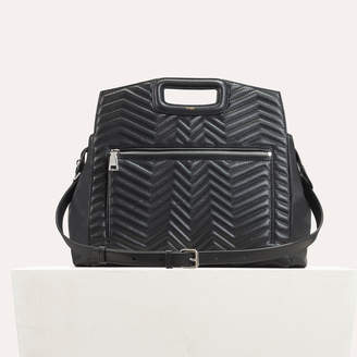 Free Standard Shipping At Maje Quilted Leather Shoulder Bag