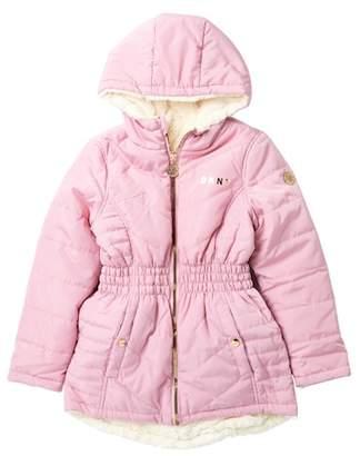DKNY Reversible Hi-Lo Faux Fur Jacket (Big Girls)